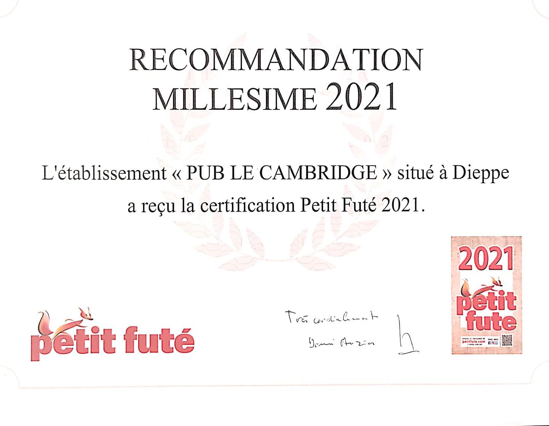 Certificat Petit Futé